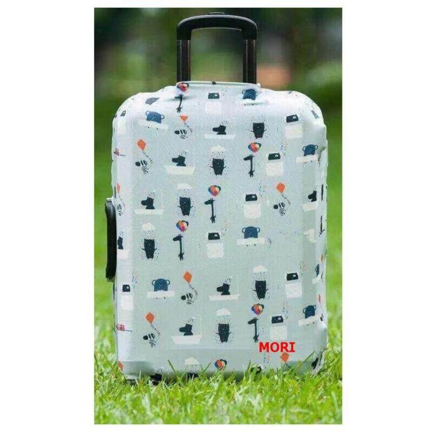 Mori ผ้าคลุมกระเป๋าเดินทาง ผ้ายืด Luggage cover Suitcase cover Spandex ลาย Lovely Safari (Size S) สำหรับกระเป๋าเดินทางไซส์ 19-21 นิ้ว ...