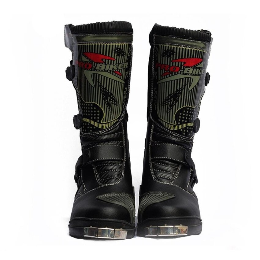 Motorcycle boots off - road motorcycle anti - collision boots (white size 42) - intl