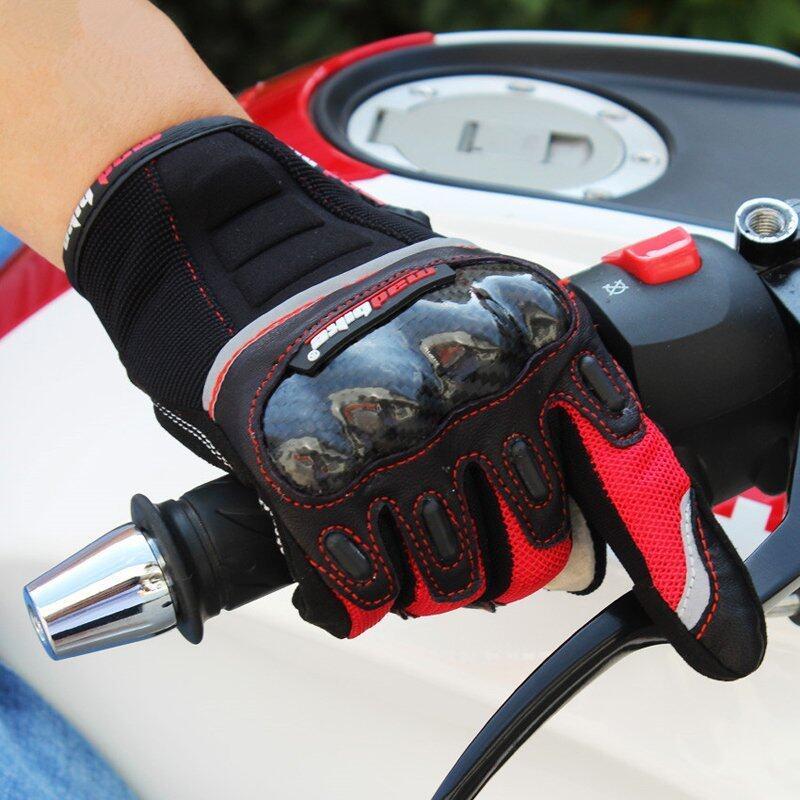 Motorcycle Gloves Carbon Fiber Drop Resistant Protective Non-slip Gloves Racing Gloves Guantes Moto Luvas Alpine Motocross Stars Size L - intl