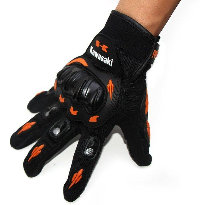Motorcycle Gloves Full Finger Knight Riding Gloves Summer Mesh Racing Glove (SIZE: M) - intl