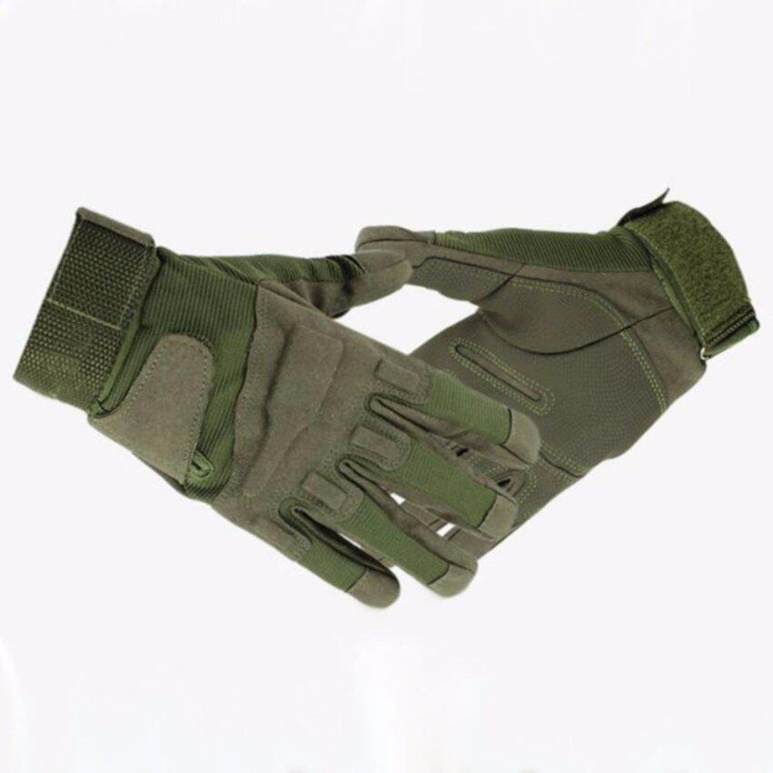 Motorcycle Gloves Full Finger Riding Cycling Sport Moto Cross Motobike Gloves Tactical Glove-LSize Green - intl