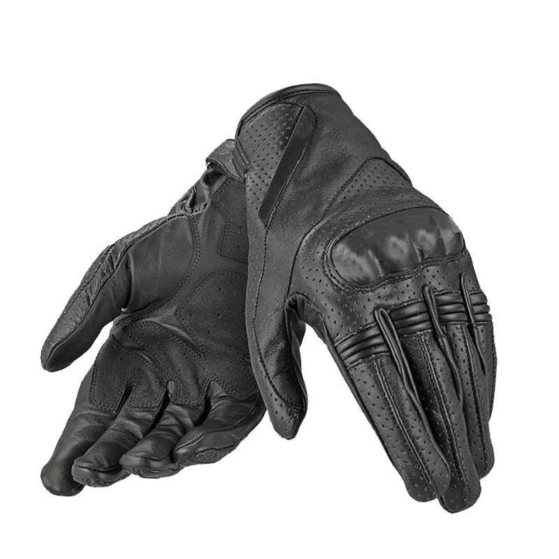 Motorcycle Gloves Leather Men Genuine Goatskin Long Glove Men Full Finger Cycling Racing Motorbike Guantes Luvas Outdoor Sports - intl