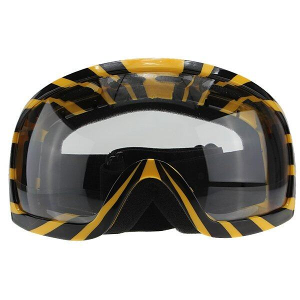 Motorcycle Goggles Glasses Snow Scooter ATV/Motocross Dirt Bike (Yellow) Transfer
