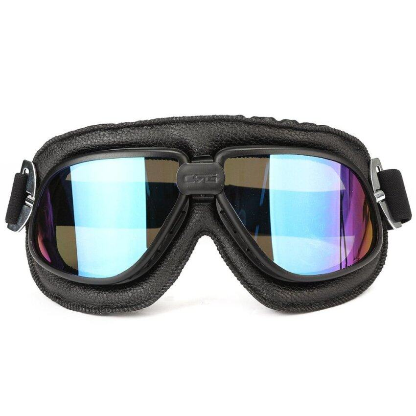 Motorcycle Goggles Scooter ATV Helmet Glasses Anti-UV Eye Wear Protector Colorful - intl