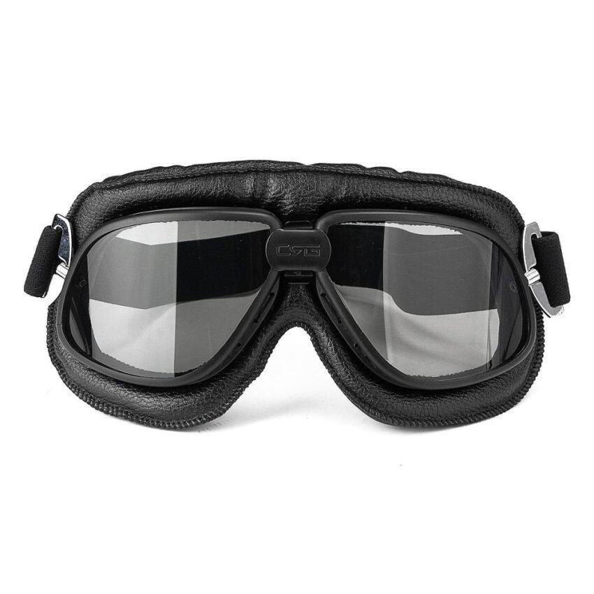 Motorcycle Goggles Scooter ATV Helmet Glasses Anti-UV Eye Wear Protector Grey Lens - intl