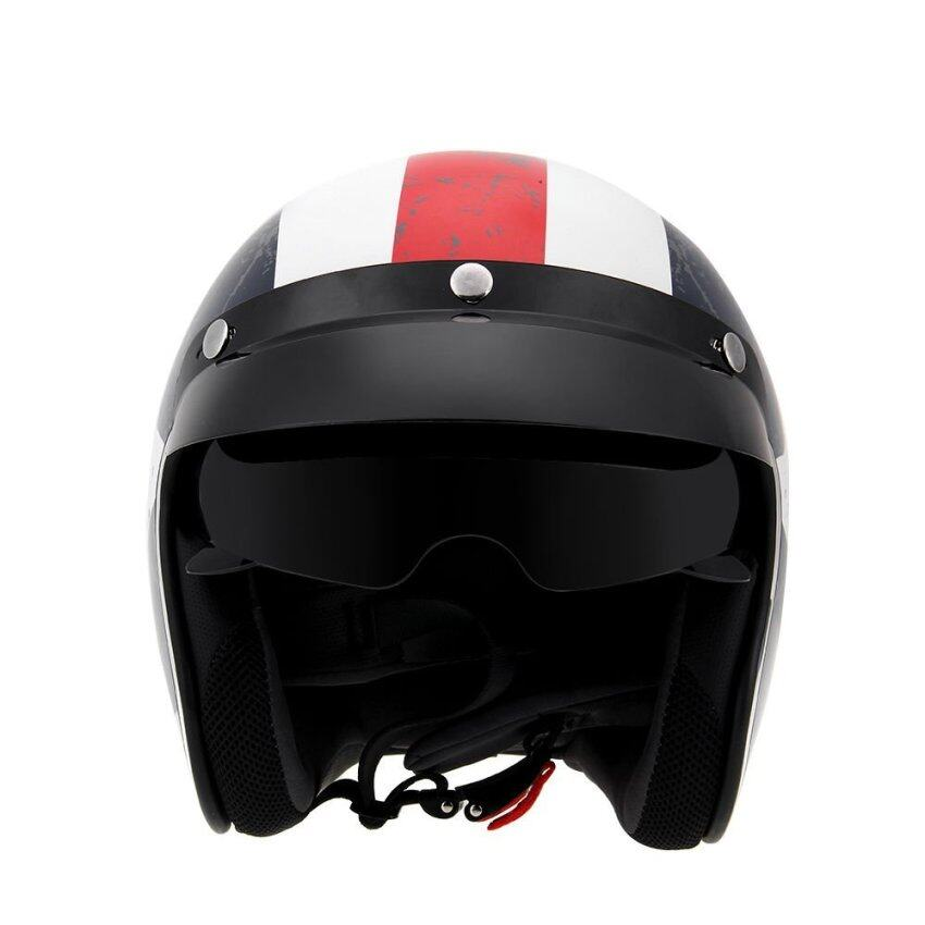 Motorcycle Helmet with Goggles Visor Cycling Riding Protect Helmet Unisex L - intl