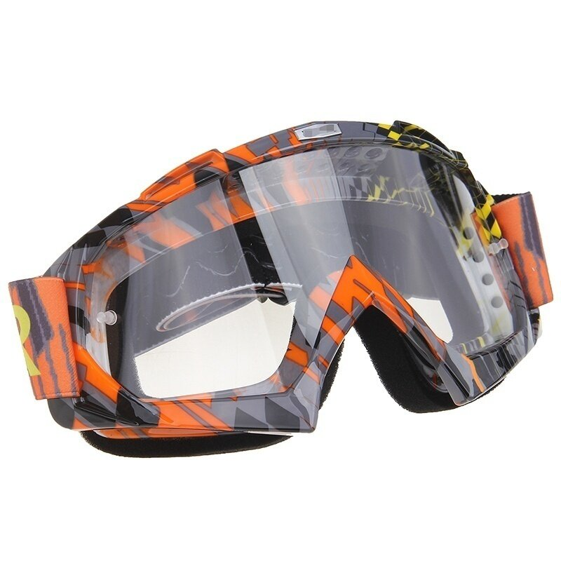 Stylish Motorcycle Goggles Glasses Wind-proof Clear Lens Adjustable For Outdoor Activities (Intl)