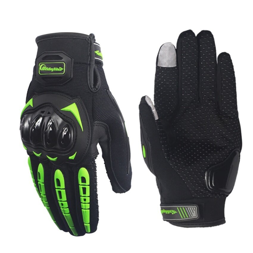 Motorcycle protective gloves touchable Wear resistant gloves(Green/L) - intl