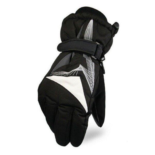 Motorcycle Warm Waterproof Cold Wind Warm Ski Riding Gloves(Grey) - intl
