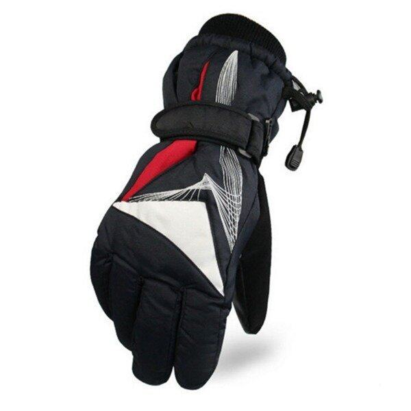 Motorcycle Warm Waterproof Cold Wind Warm Ski Riding Gloves(Red)