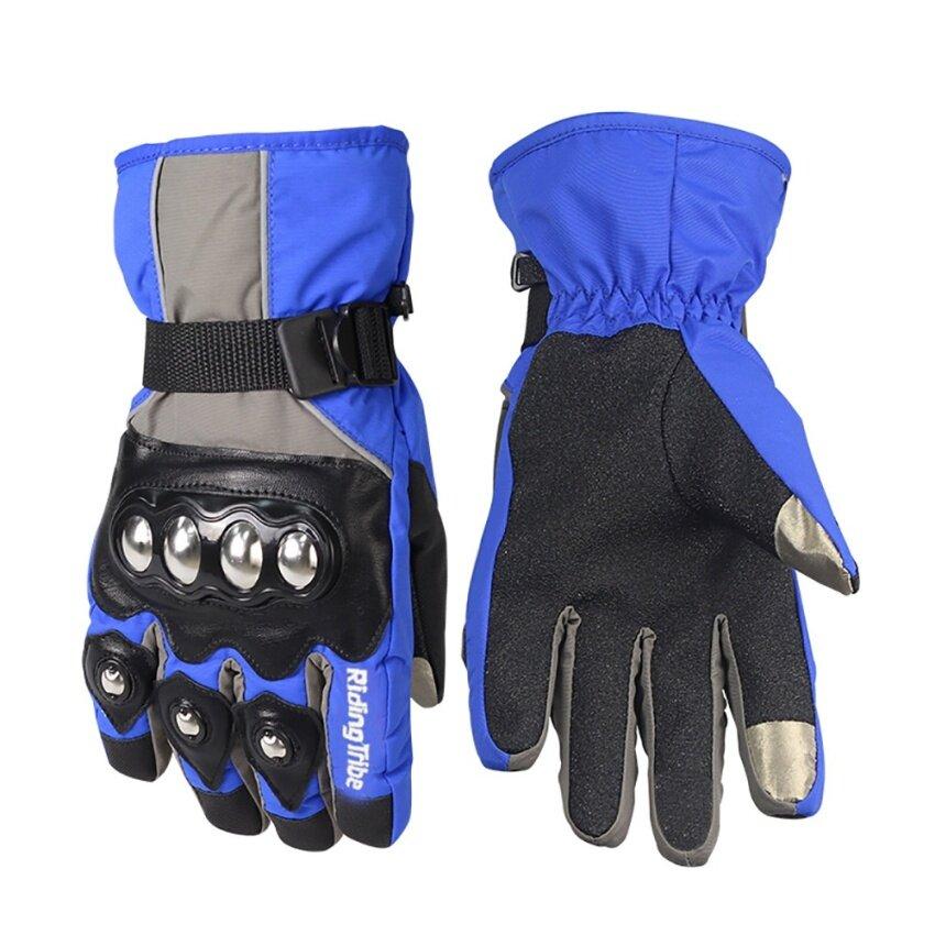 Motorcycle winter warm gloves racing waterproof gloves(Black/XL) - intl