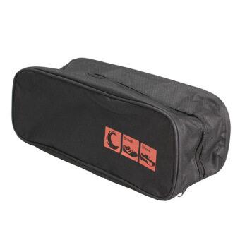 New Waterproof Shoe Bag Travel Storage Visual Breathable Tote Bag Black