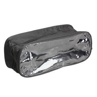 New Waterproof Shoe Bag Travel Storage Visual Breathable Tote Bag Black (Intl)