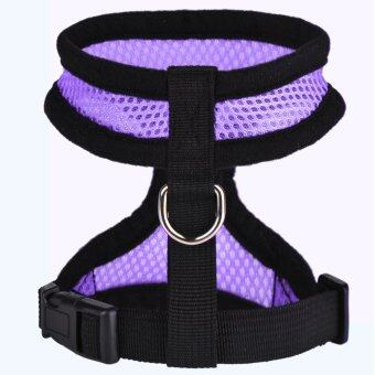 new Y103PurpleS Purple Pet Cat Dog Dog Puppy Adjustable HarnessBraces Clothes Soft Vest Leash Mesh Breathe - intl