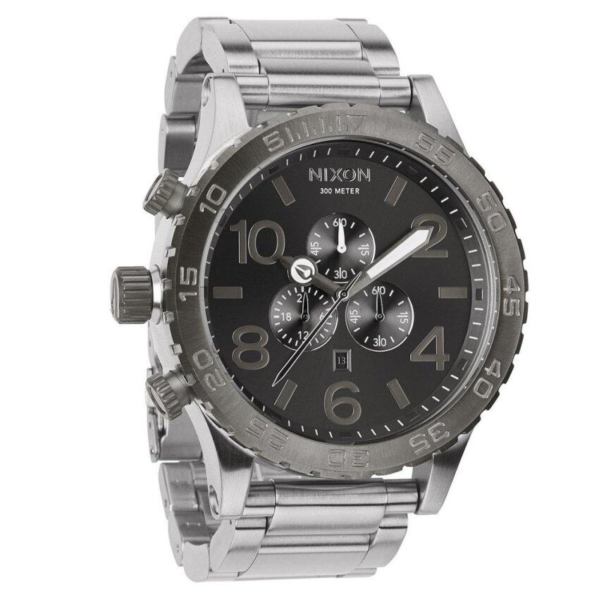 Nixon Watch 51-30 Silver Stainless-Steel Case Stainless-Steel Bracelet Mens NWT + Warranty A0831762 image