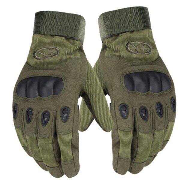 Outdoor Tactical Combat Training Motorcycle Full Finger Slip Gloves(Green)
