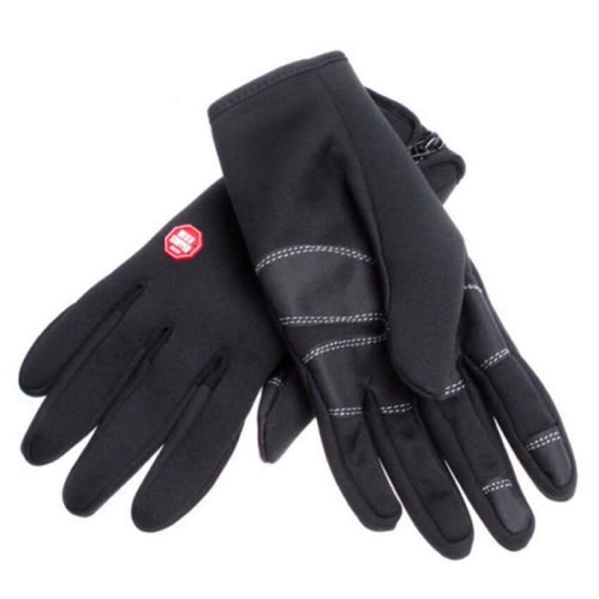 Outdoor Windproof Motorcycle Gloves Black - intl