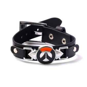 Overwatch Leather PU Bracelet Wristband Souvenir Gift Bangle Fashion Jewelry - intl