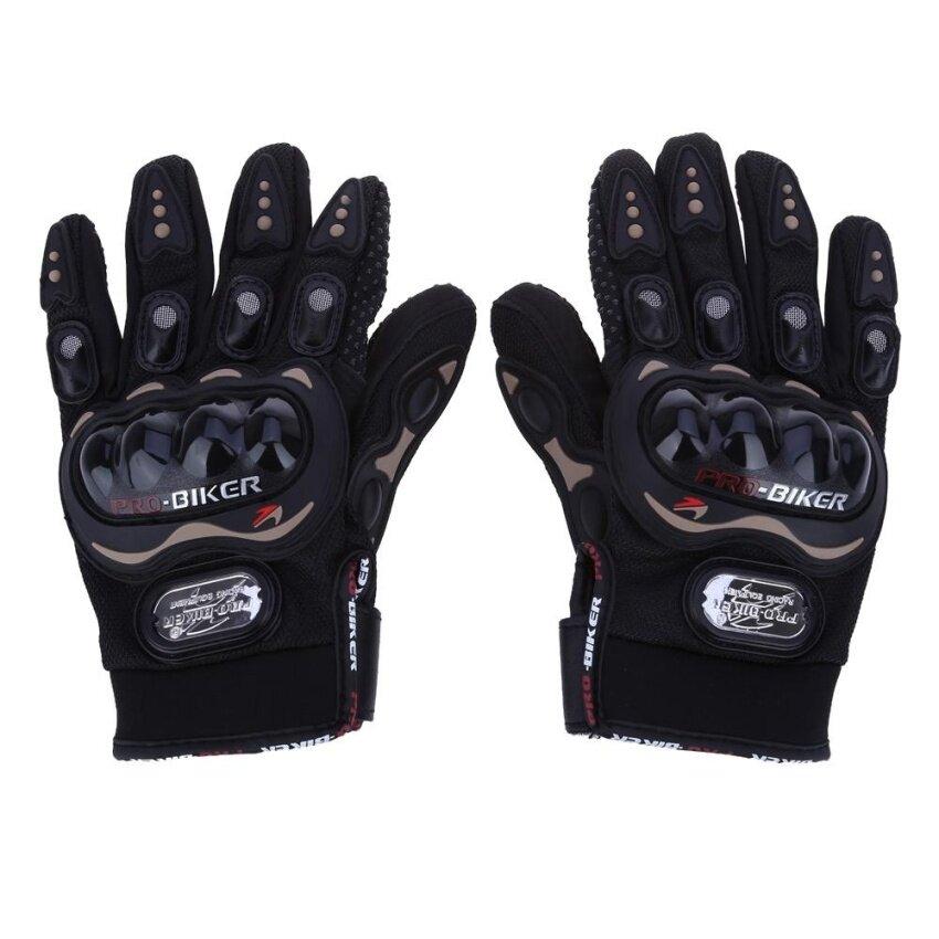 ขาย Paired Full Finger Motorcycle Gloves Motorbike Outdoor Sports Riding Breathable Protective Gears - intl
