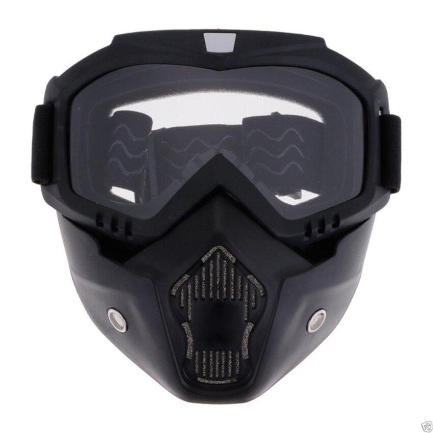 PAlight Motorcycle Helmet Mask Detachable Filter Mouth Goggles Eyewear - intl