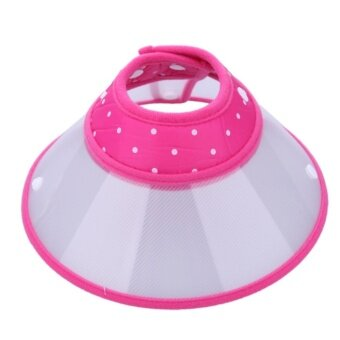 Pet Protective Anti Bite Collar Cover 12cm (Pink) - intl