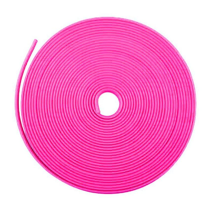 Pink Car Vehicle Wheel Rim Protector Tire 8M Guard Line Rubber Moulding Trend - intl
