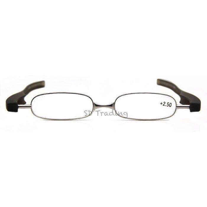 Pod Reading Glasses แว่นสายตายาว แบบพับได้ สำหรับอ่านหนังสือ (สีดำ) พร้อมซองสำหรับเก็บแว ...