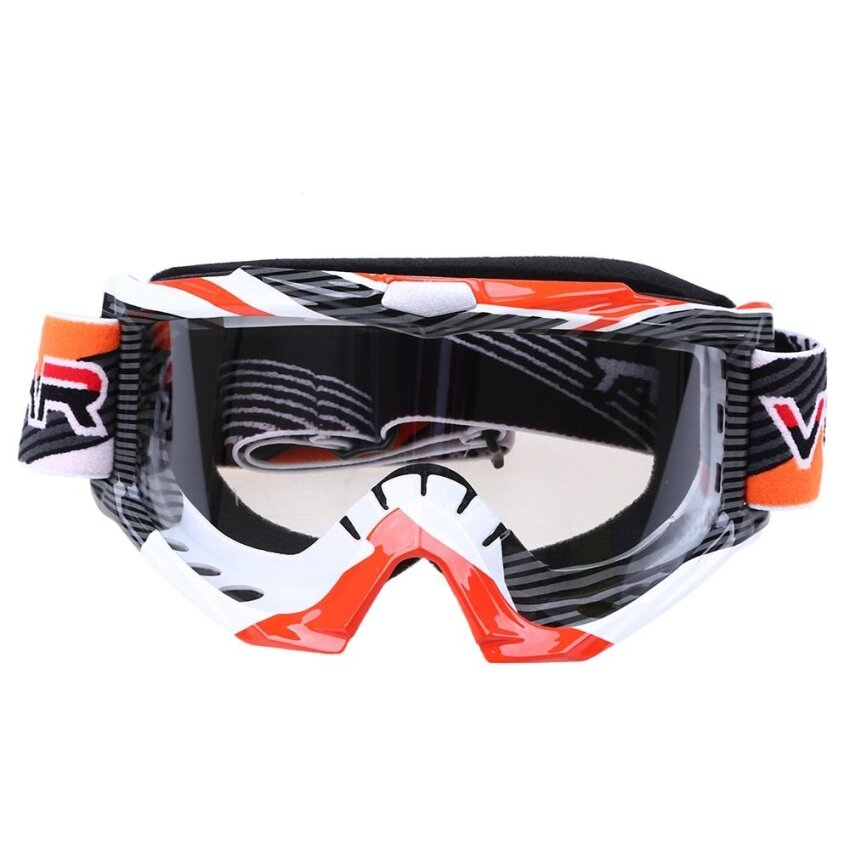 Possbay 1Pcs Cool Orange Motorcycle Motocross Goggles Eyewear Glasses Clear Len - intl