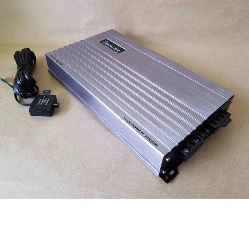POWER CLASS D IMPOSSIBLE IMP-7000 เพาเวอร์แอมป์คลาสดี ยี่ห้อ Impossible รุ่น IMP-7000 กำลังขับสูงสุด 5700 watt (SILLVER)