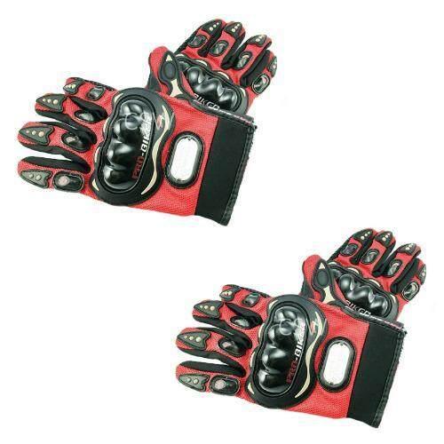 Pro Biker ถุงมือมอเตอร์ไซค์ สนับแข็ง เต็มนิ้ว สีแดง ไซส์ XXL จำนวน 2 คู่