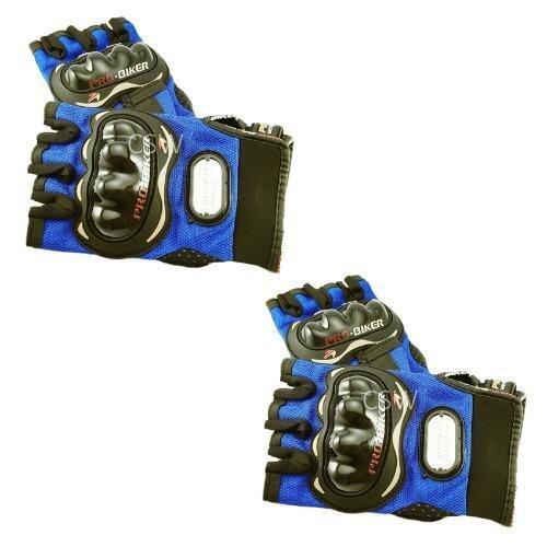Pro Biker ถุงมือมอเตอร์ไซค์ สนับแข็ง ตัดนิ้ว สีน้ำเงิน ไซส์ XXL จำนวน 2 คู่