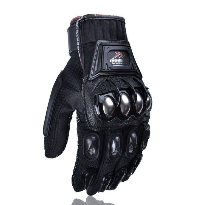 QQ Riding gloves motorcycle gloves outdoor sports electric car racing gloves Black (Size:M) - intl