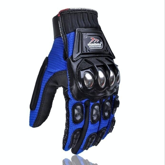 QQ Riding gloves motorcycle gloves outdoor sports electric car racing gloves Blue(Size:M) - intl