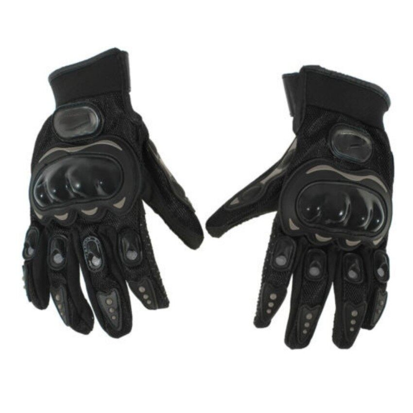 Racing Riding Pair Full Finger Gloves Cycling Motorcycle Outdoors Black