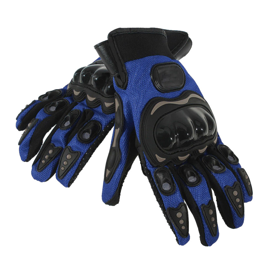 Racing Riding Pair Full Finger Gloves Cycling Motorcycle Outdoors Blue