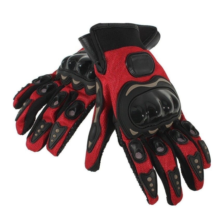 Racing Riding Pair Full Finger Gloves Cycling Motorcycle Outdoors Red