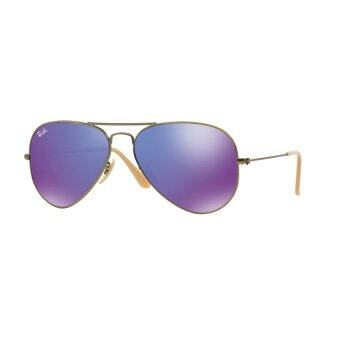 Ray-Ban แว่นกันแดด รุ่น Aviator Large Metal RB3025 - Gold (001/33) Size 58 Crystal Brown