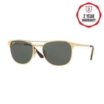 Ray-Ban แว่นกันแดด รุ่น - RB3429M - Gold (1) Size 58 Green