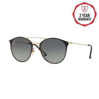 Ray-Ban แว่นกันแดด รุ่น - RB3546 - Gold Top Black (187/71) Size 52 Grey Gradient
