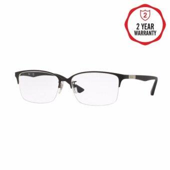 Ray-Ban แว่นสายตา รุ่น  - RX6381D - Matte Silver On Black (2897) Size 57 Demo Lens