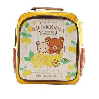 Rilakkuma กระเป๋าเป้ กระเป๋านักเรียน สะพายหลัง (สีเหลือง)