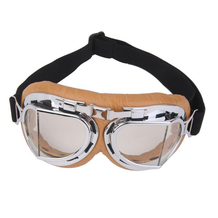 RIS Motorcycle Motorbike Bicycle Scooter ATV Goggles Eyewear Clear Lens