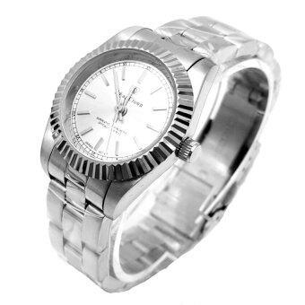 Royal Crown นาฬิกาสำหรับสตรี สายสแตนเลสอย่างดี รุ่น 3662L - สี White