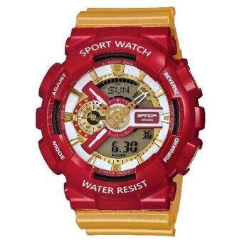 S SPORT นาฬิกาข้อมือ กันน้ำได้ ใส่ได้ทั้งชายและหญิง - GP9210 (IRON Red) image
