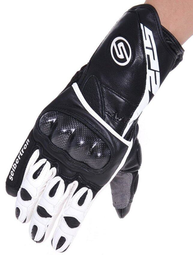 Seibertron SP2 SP-2 ADULT On-Road Street Racing Motorcycle Gloves Genuine Leather Gloves White S - intl
