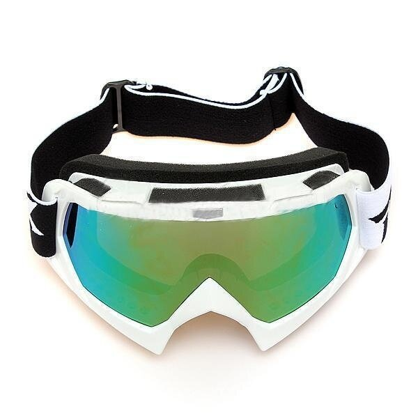 Single Lens Motocross Off-road ATV Dirt Bike Motorcycle Skiing Goggles Eyewear Silver