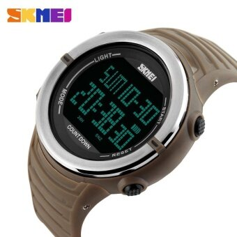 SKMEI 1209 Brand Men Waterproof LED Digital Sports Watch - Yellow - intl