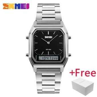 SKMEI Men Fashion Casual Quartz WristWatch นาฬิกาข้อมือ es Digital Dual Time Sport Watch นาฬิกา