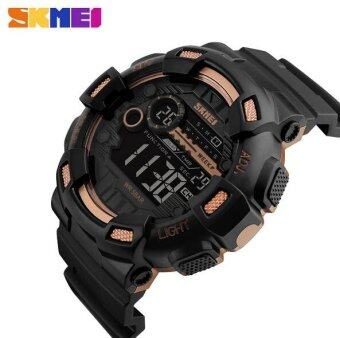SKMEI Men Sport Watch Outdoor Waterproof Men 's Electronic Watch 1243 Gold - intl