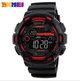 SKMEI Men Sport Watch Outdoor Waterproof Men 's Electronic Watch 1243 Red - intl